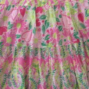 Lilly Pulitzer pink with green tiger long skirt